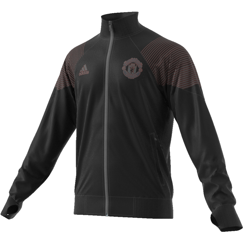 adidas VESTE DE SURVÊTEMENT MANCHESTER UNITED ICON Black |